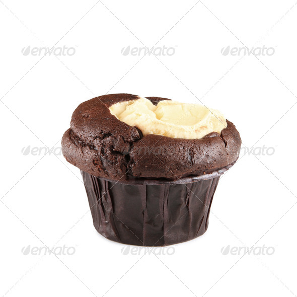 Chocolate and Cream Cheese Cupcake - Stock Photo - Images