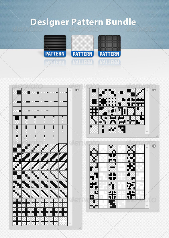 Designer Pattern Bundle - Miscellaneous Textures / Fills / Patterns
