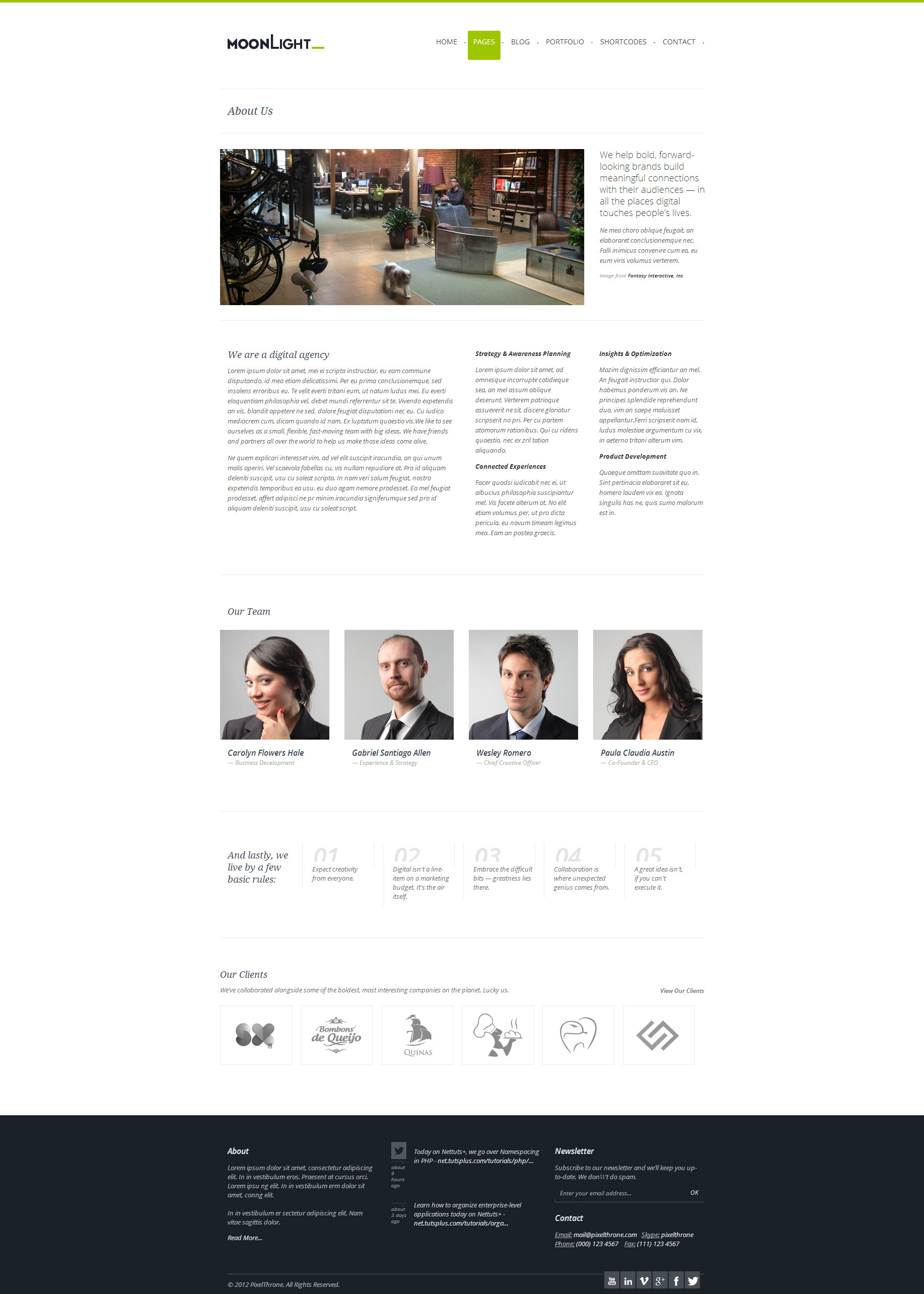 MoonLight > Responsive WordPress Theme