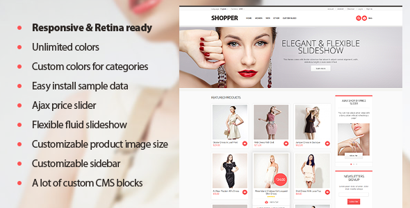 ThemeForest Shopper Magento Theme Responsive & Retina Ready 3139960