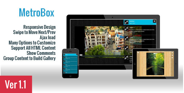 CodeCanyon MetroBox Responsive LightBox 2862835