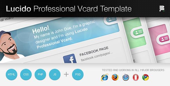 Lucido Professiona Vcard Template
