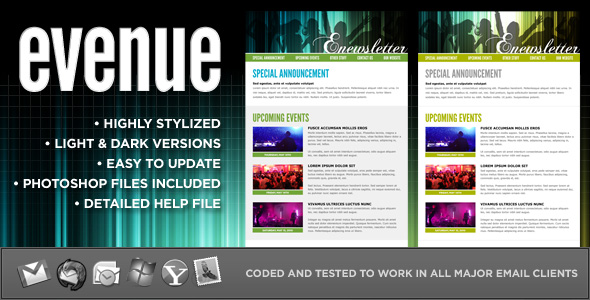 evenue :: Custom email template