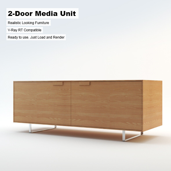 3DOcean 2-Door Media Unit 3142571