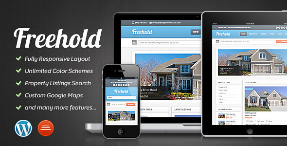 ThemeForest Freehold Responsive Real Estate Theme 3037086