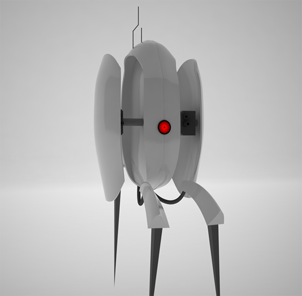 Turret from Portal with Texture of Eye - 3DOcean Item for Sale