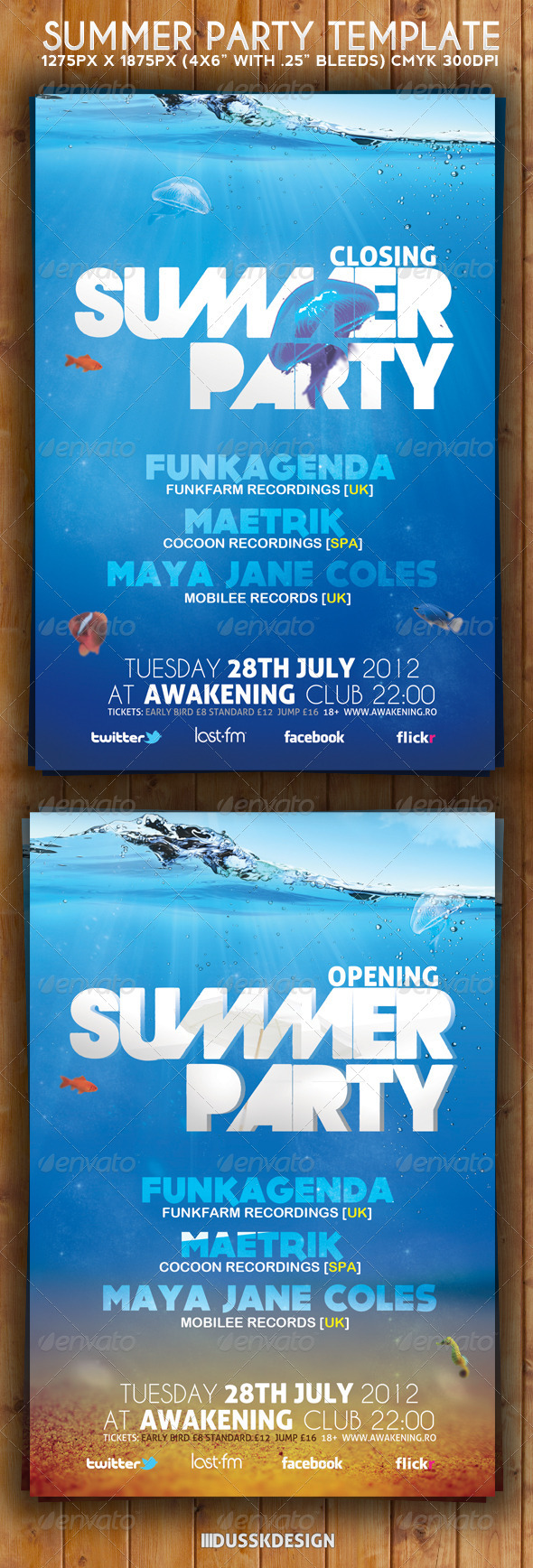 GraphicRiver Summer Party Flyer Template 3117675