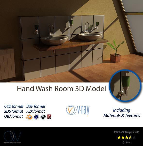 3DOcean Hand Wash 3D Model 3115609