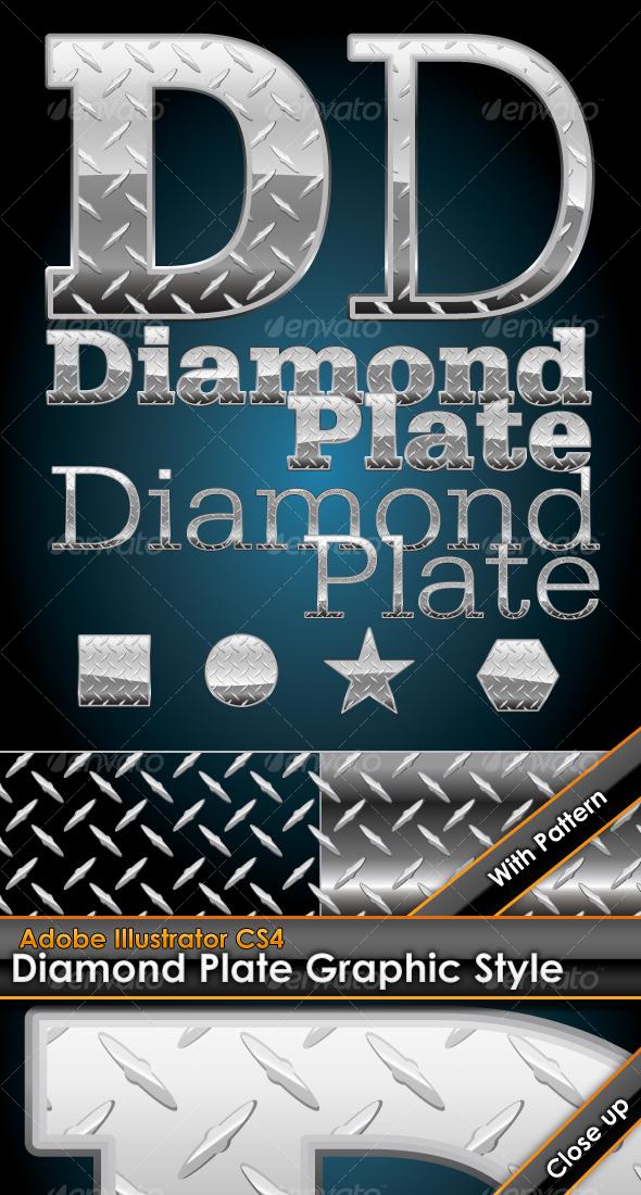 GraphicRiver Diamond Plate Illustrator Graphic Style & Pattern 106544