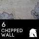 6 Hi-Res Chipped White Wall Texture - GraphicRiver Item for Sale