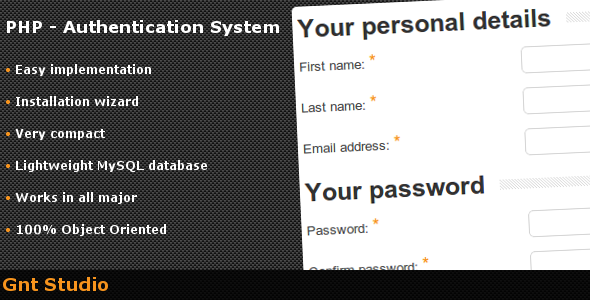 CodeCanyon PHP Authentication System 164129