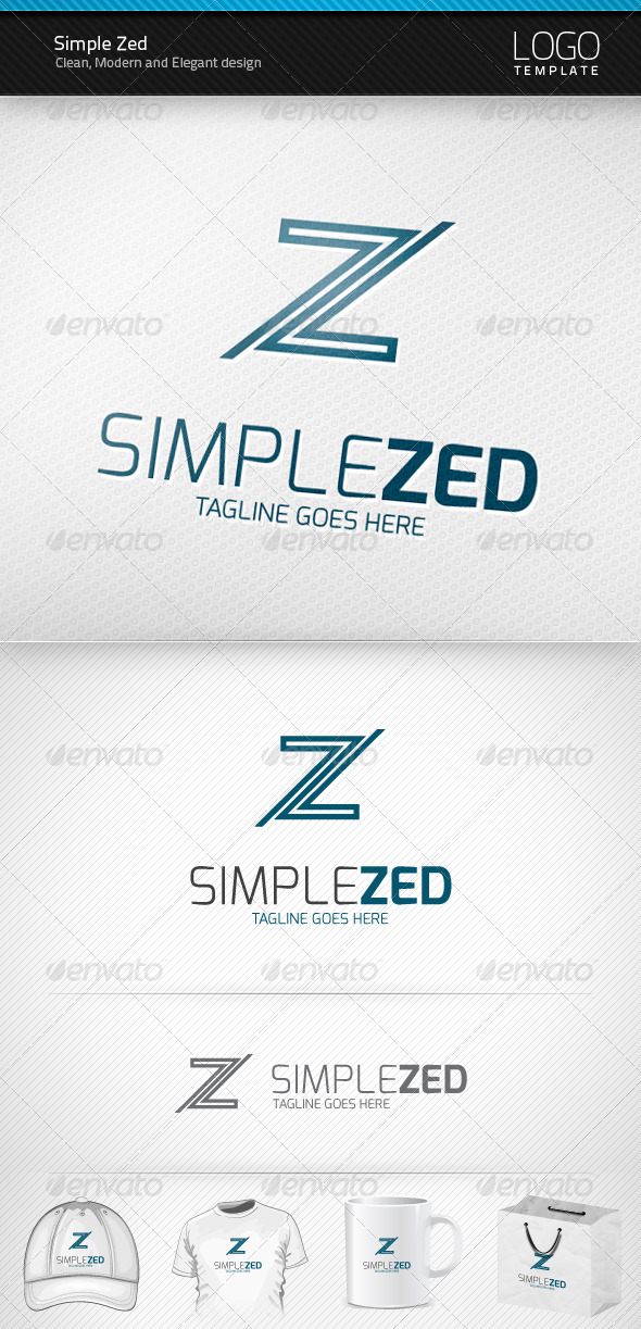 Simple Zed Logo - Letters Logo Templates