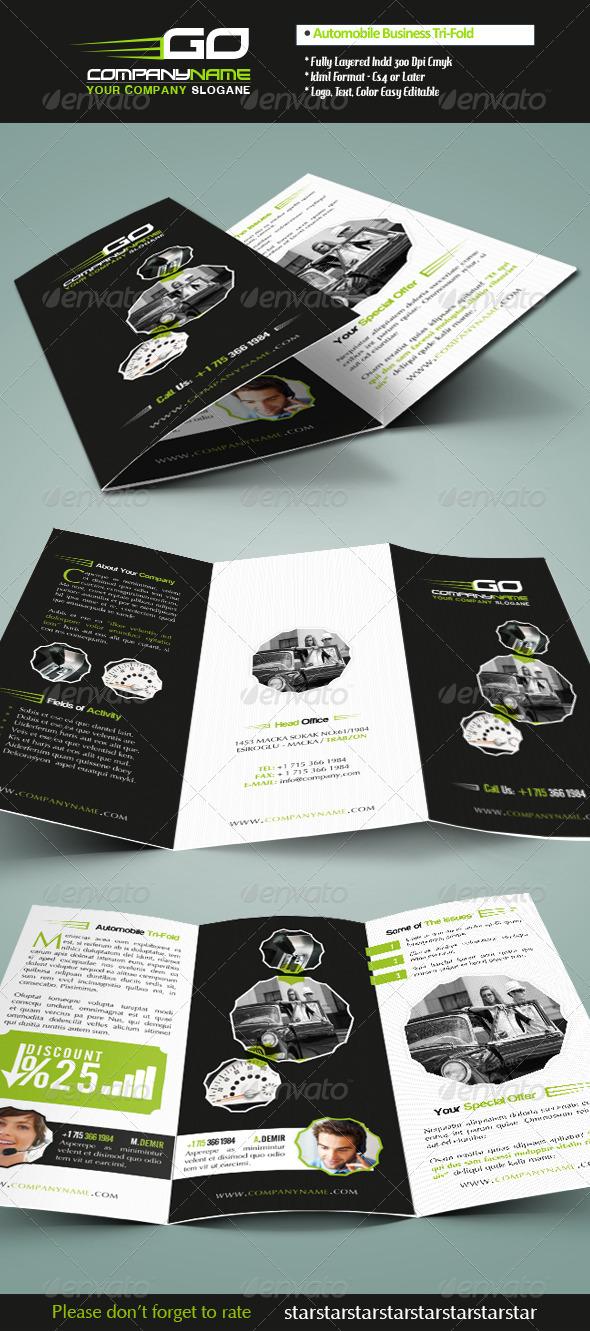 Automobile Business Tri-Fold