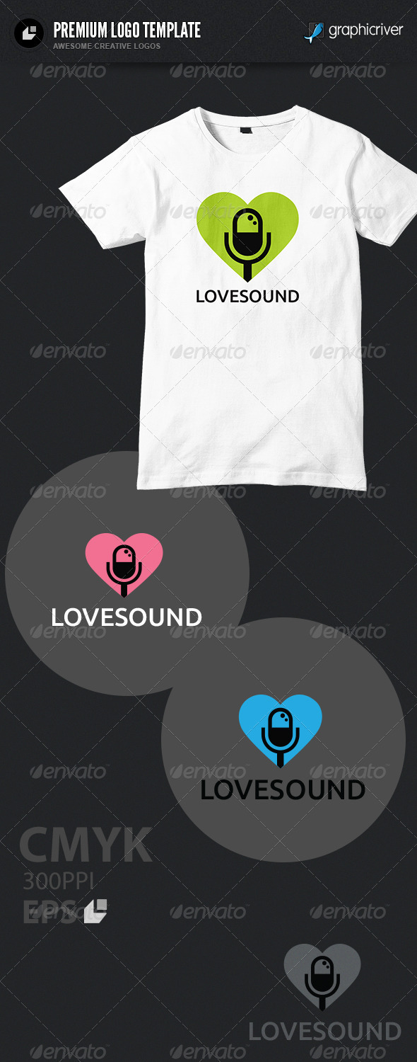 Love Sound Logo - Humans Logo Templates