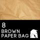 8 Hi-Res Brown Paper Bag Textures - GraphicRiver Item for Sale