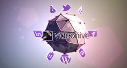Social Media 3D ball