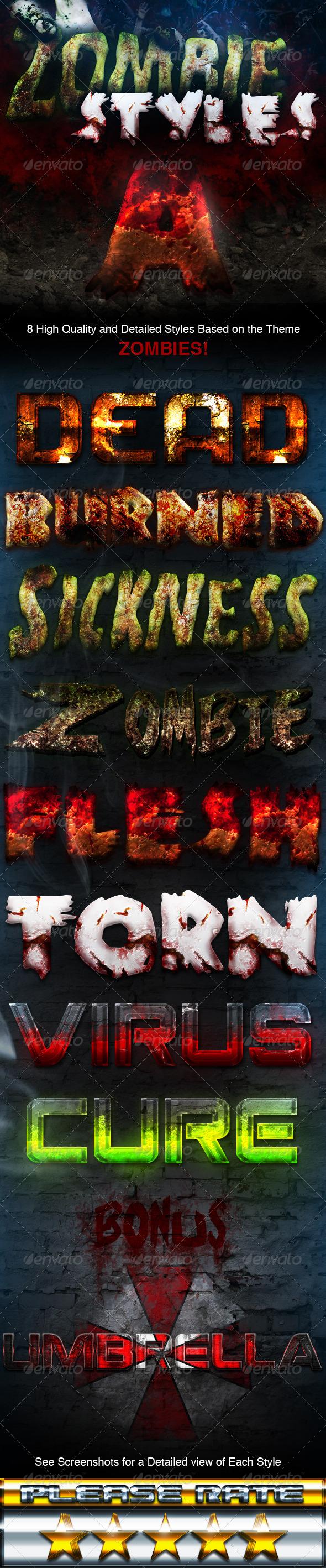 GraphicRiver Zombie Styles 3114318