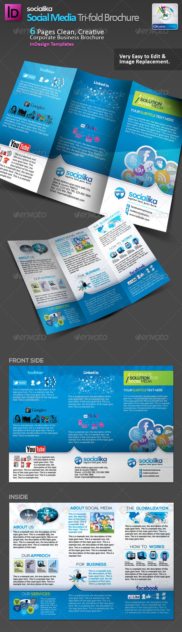 GraphicRiver Social Media Tri-fold Brochure v.2 2993638