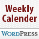 Weekly Calender WP plugin - CodeCanyon Item for Sale