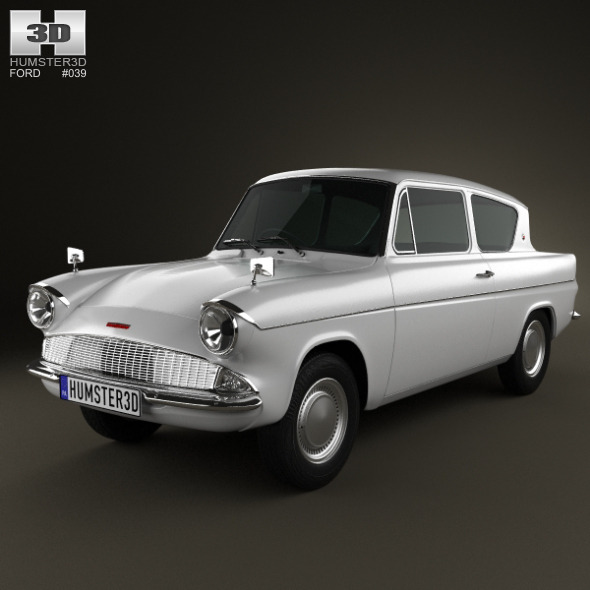 3DOcean Ford Anglia 105e 2-door Saloon 1967 3147816