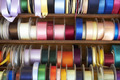 Selection Of Colourful Ribbons On Haberdashery Stall - PhotoDune Item for Sale
