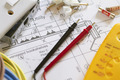 Still Life Of Electrical Components Arranged On Plans - PhotoDune Item for Sale