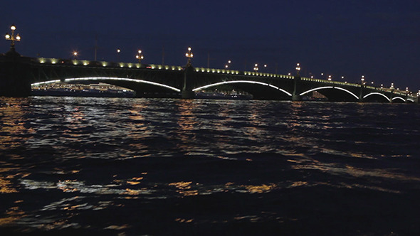 The Troitsky bridge in Saint Petersburg