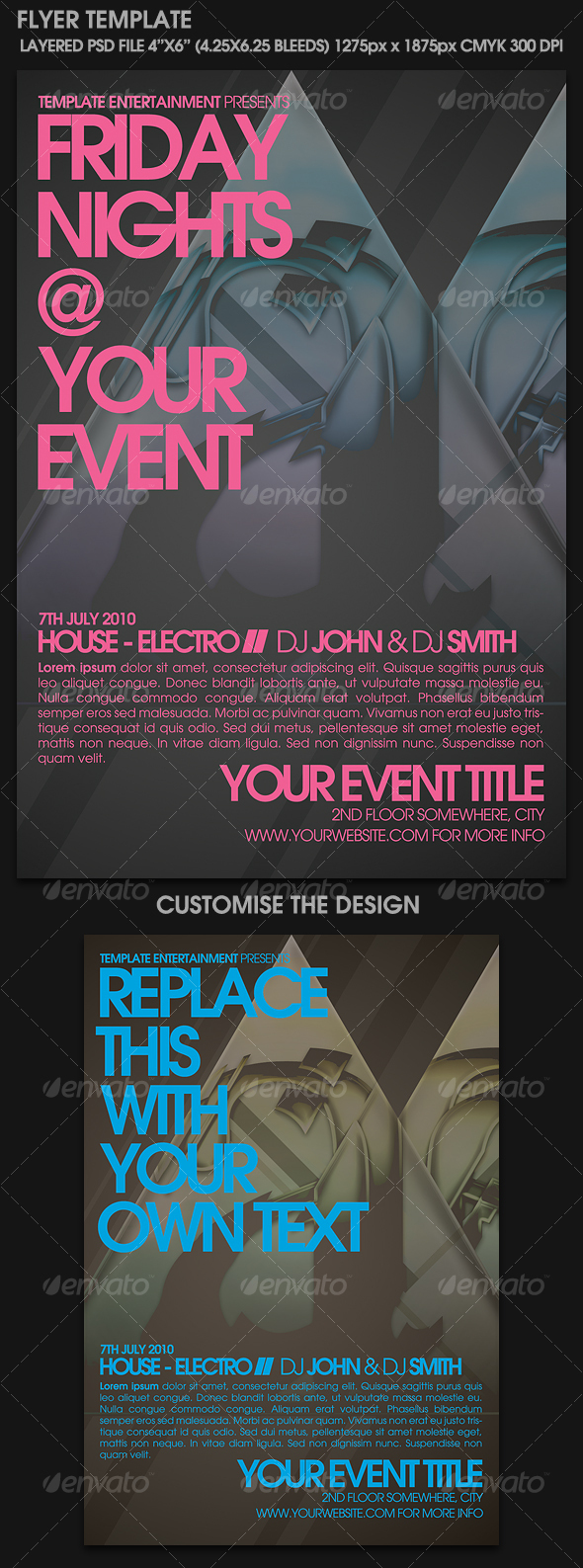 Contemporary Flyer Template - Clubs & Parties Events