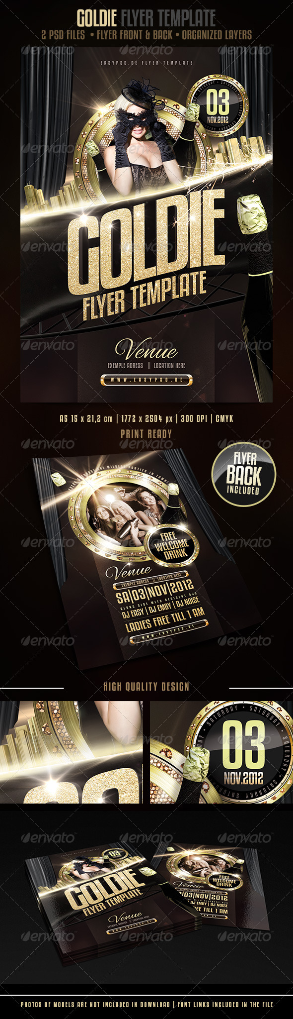 GOLDIE Flyer Template