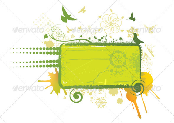 Green Abstract Board