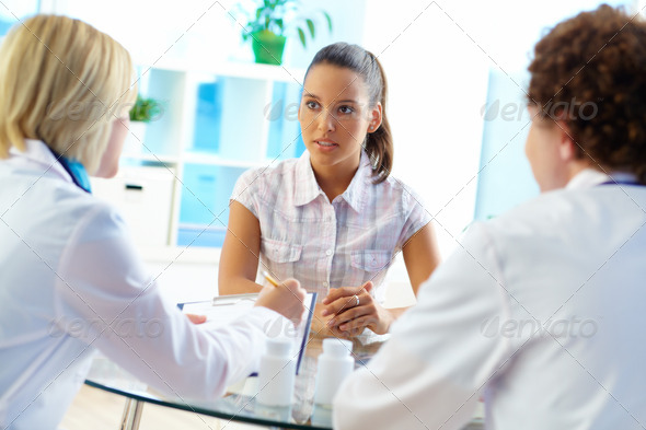 Attentive patient - Stock Photo - Images