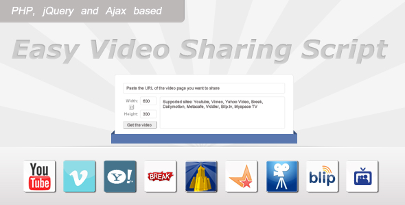 Easy Video Sharing Script - CodeCanyon Item for Sale