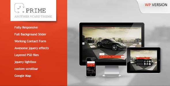 Prime - A New Responsive WordPress vCard Theme