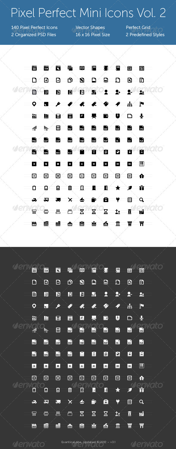 Pixel Perfect Mini Icons Vol 2
