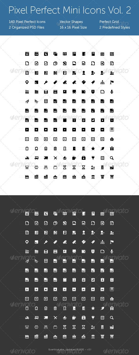 GraphicRiver Pixel Perfect Mini Icons Vol 2 116091