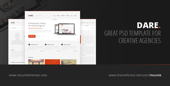 Dare - Premium Multi-Purpose PSD Template