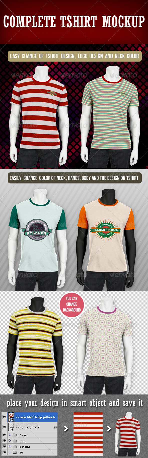 GraphicRiver Complete T-shirt Mockup 3153063