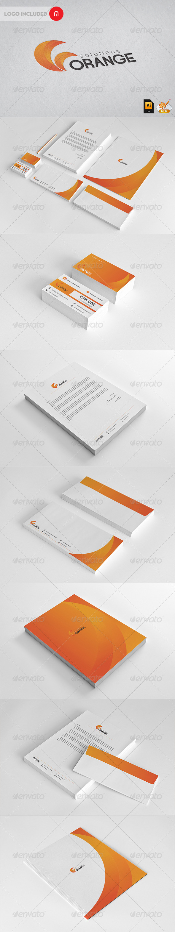 GraphicRiver Corporate Startioney Orange Solutions 3118911