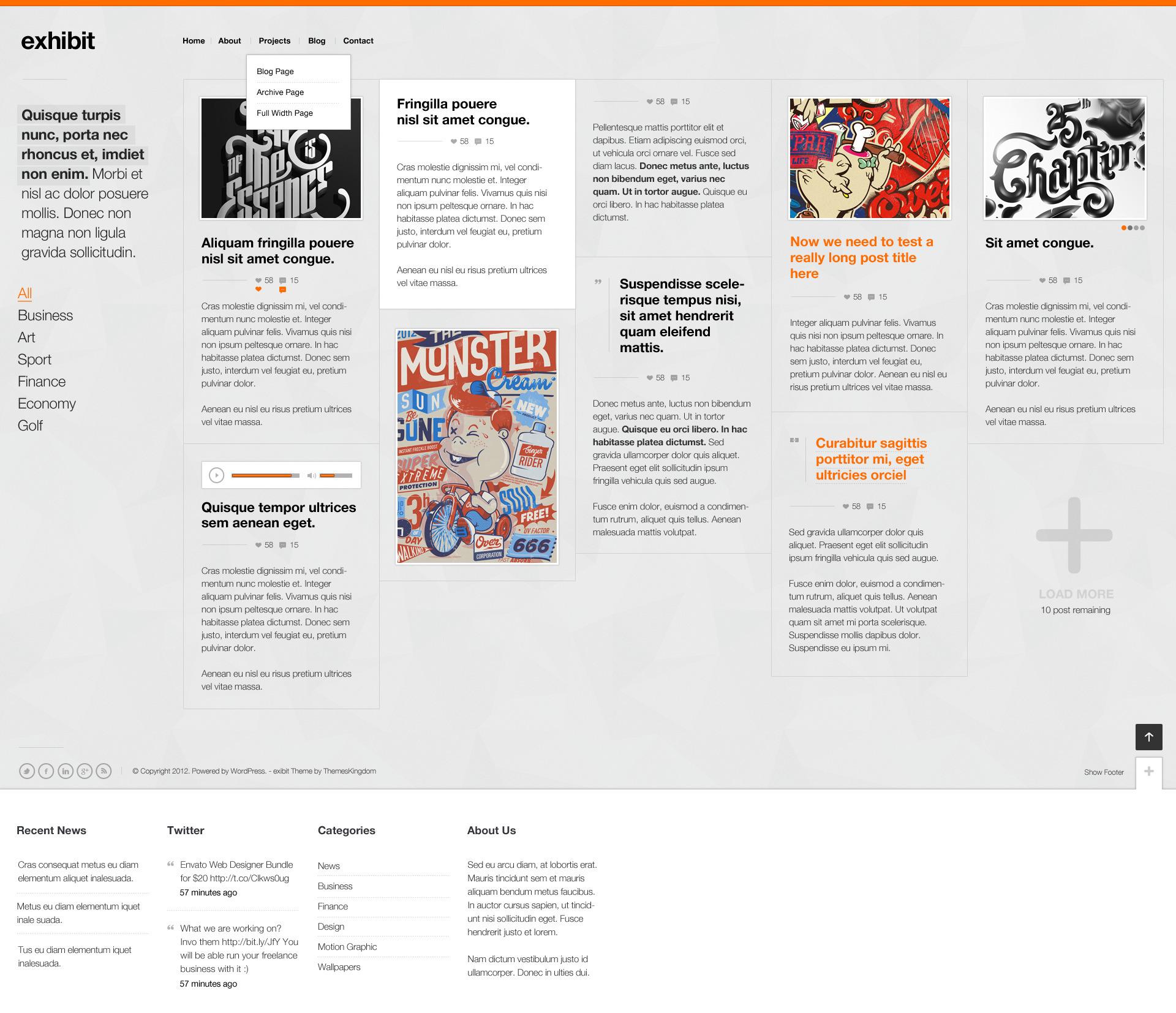 Exhibit - Responsive WordPress Theme