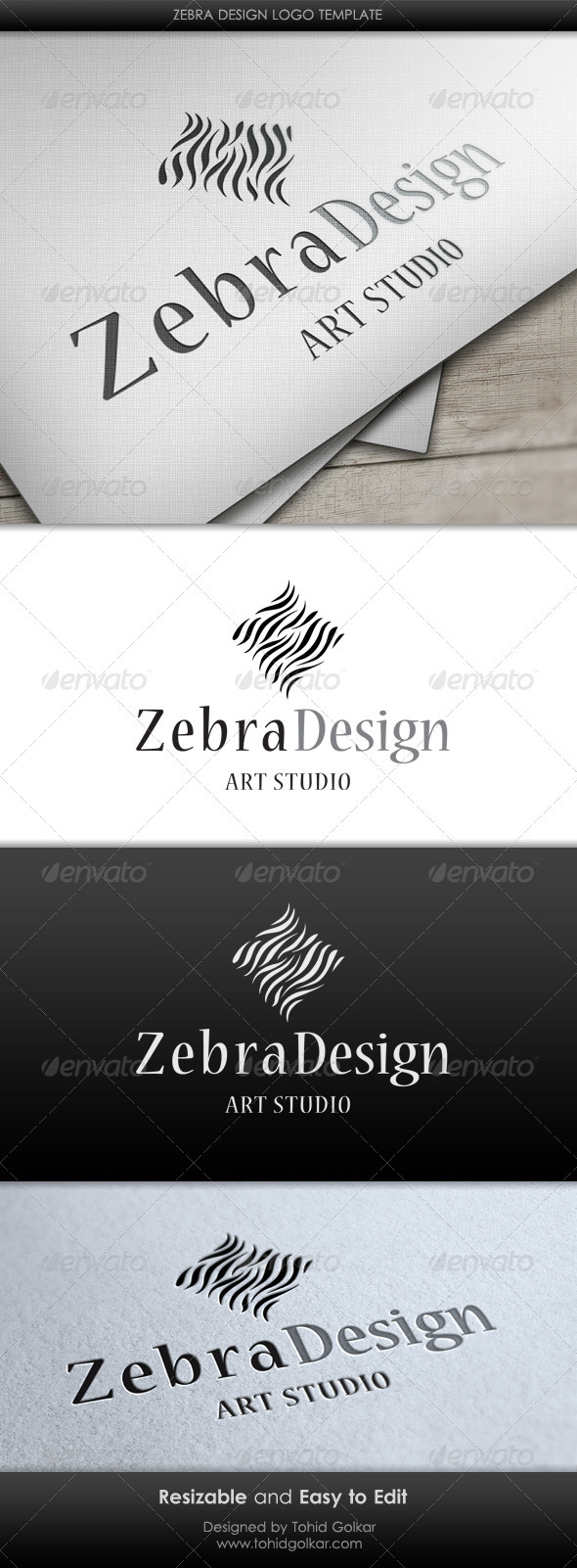Zebra Design Logo Template