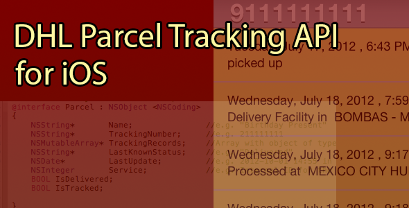 CodeCanyon DHL Parcel Tracking App 3150073