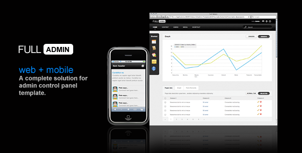 ThemeForest FULLADMIN web & mobile admin template 111453
