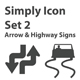 Simply Icon Set 2 (Arrow & Highway Signs) - GraphicRiver Item for Sale