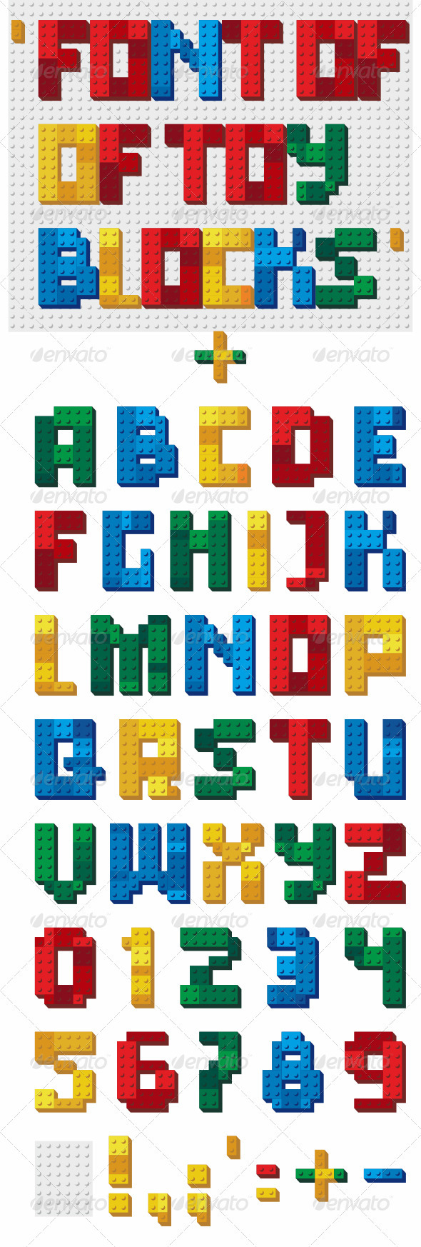 GraphicRiver Font of Toy Blocks 3154803