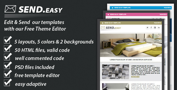 ThemeForest SendEasy email template 3026524