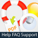 Help FAQ and Support Vector Icons - GraphicRiver Item for Sale