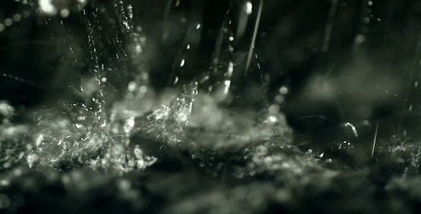 Splashing Drops Full-HD 1080p