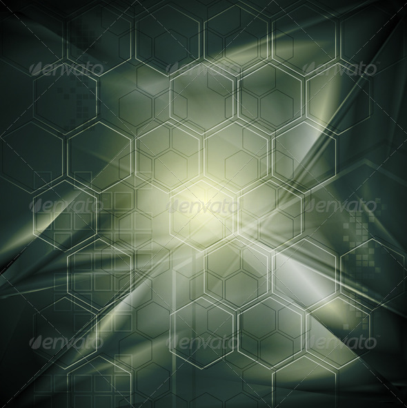 Abstract tech background with geometrical elements - Backgrounds Decorative