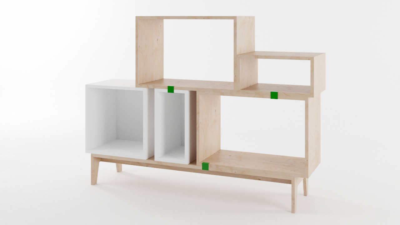 muuto stacked shelf system vray materials by cgstar 3docean. Black Bedroom Furniture Sets. Home Design Ideas
