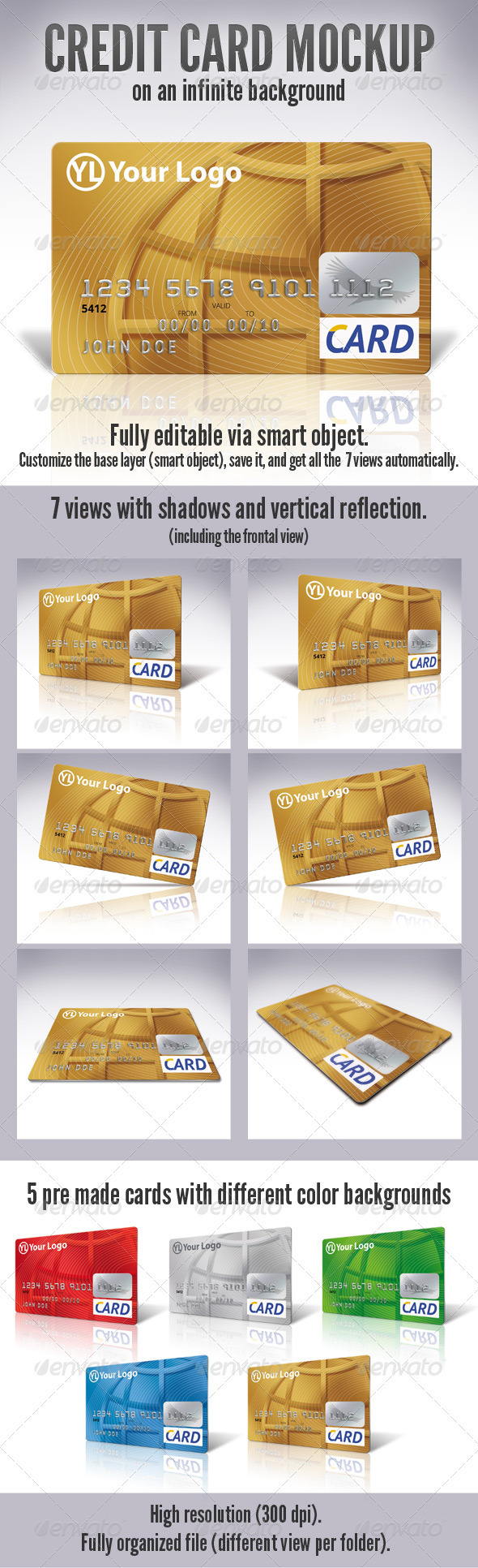 GraphicRiver Credit Card Mock-Up 3156833
